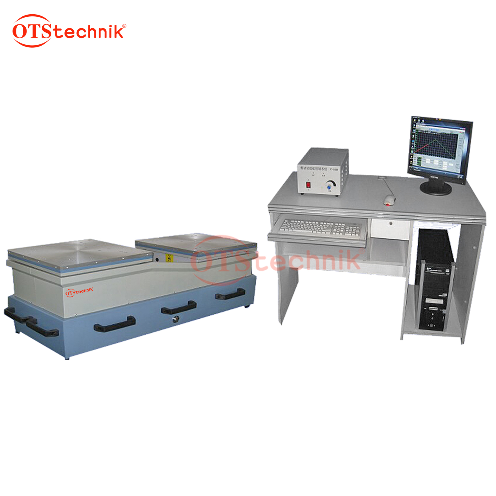 Vertical electromagnetic vibration table (with computer)